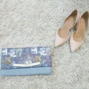Asos Floral and Blue Foldable Clutch